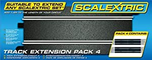 Scalextric C8526 Track Extension Pack 4 - Straights 1:32 Scale Accessory