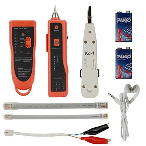 zitfri wire tracker rj45 rj11 finder kabeltester f r telefonkabel und lan kabel inkl. Black Bedroom Furniture Sets. Home Design Ideas