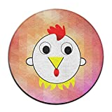 Kamifa カミファ 愛しい鶏 玄関 丸マット 足拭き おくだけ吸着