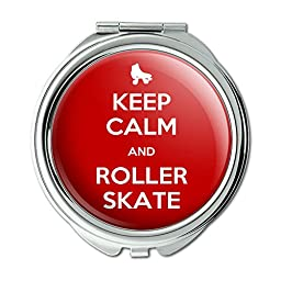Keep Calm And Roller Skate Derby Compact Purse Mirror