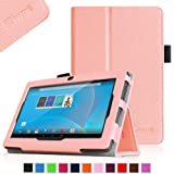 """Fintie Chromo 7"""" Android Tablet Folio Case Cover - Premium Leather With Stylus Holder for Chromo Inc.® 7"""" Tab - Pink"""
