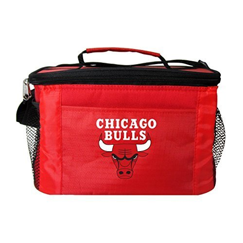 nba-chicago-bulls-insulated-lunch-cooler-bag-with-zipper-closure-red-by-kolder