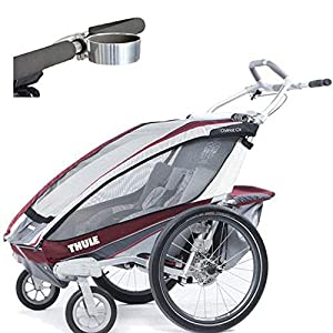 Thule Chariot CX 2 Child Carrier with Strolling Kit and Cup Holder - Burgundy