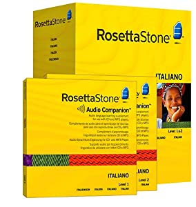 Rosetta Stone Version 3: Italian Level 1 and 2 Set with Audio Companion (Mac/PC CD)