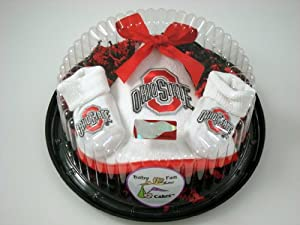 Ohio State Buckeye Baby Clothing Piece of Cake Gift Set by Future Tailgater