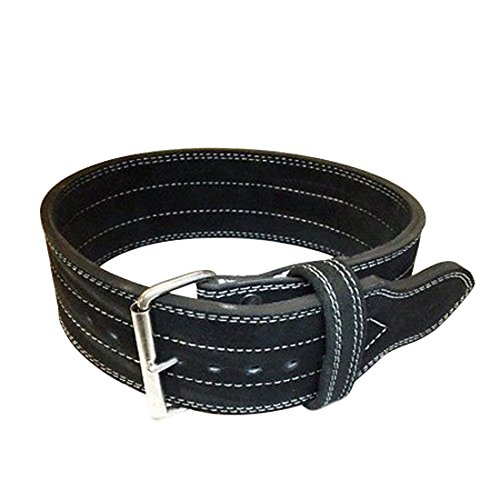 Single Prong Powerlifting Belt 10mm Weight Lifting Black Large (Inzer Lifting Belt compare prices)