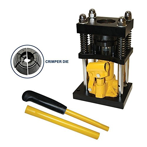 Interstate Pneumatics H10-8 Manual Benchtop Hydraulic Jack Air Hose Crimper - 1/2 inch to 3/4 inch (Hydraulic Hose Repair Kit compare prices)