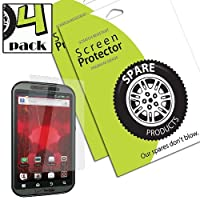Spare Products Screen Protector Film for Motorola Droid Bionic - (4 Pack) Anti-Glare