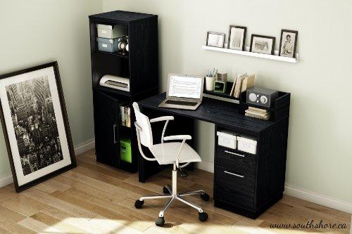 South Shore Academic Desk Black Oak Furniture Office