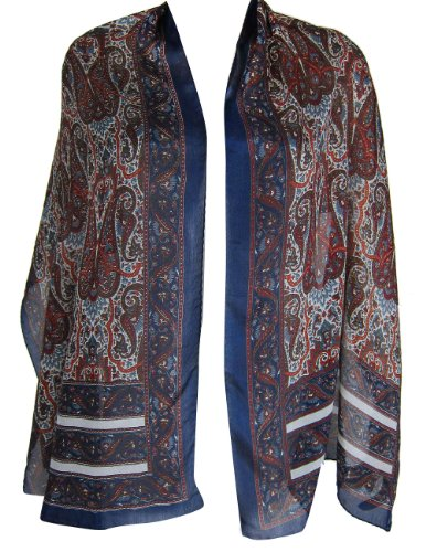 Scarf For Women Silk Printed Rectangular India Shop 55 x 182 cm