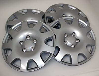 TuningPros Style# 502 Hubcaps Wheel Skin Cover Silver Set of 4