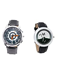 Foster's Men's Grey Dial & Foster's Women's Black Dial Analog Watch Combo_ADCOMB0002320