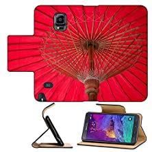 buy Luxlady Premium Samsung Galaxy Note 4 Flip Pu Leather Wallet Case Umbrella Made Of Paper Cloth Arts And Crafts The Village Bo Sang Chiang Mai Thailand Image Id 25175354