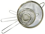 Food Strainer, Set of 3, by HouseBasics, Ideal as Quinoa, Tea, Spaghetti Strainer, and more!…