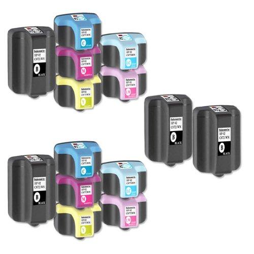 14 Ink Cartridges C8721WN, C8771WN, C8772WN, C8773WN, C8774WN, C8775WN (HP 02) Compatible Remanufactured for HP 02 Black, Cyan, Magenta, Yellow, Light Cyan, Light Magenta.(2 Set + 2 Black)