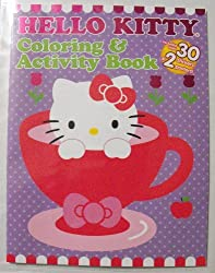 Hello Kitty 24 Pg Coloring & Activity Book With 30 Stickers & 2 Pull-Out Posters.