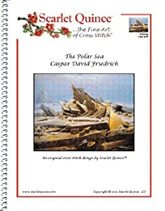 Scarlet Quince FRI001lg The Polar Sea by Caspar David Friedrich Counted Cross Stitch Chart, Large Size Symbols