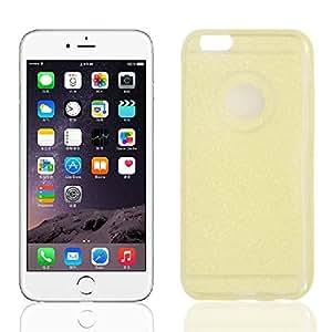 TPU Ultra Thin Glitter Powder Bumper Cover Case Gold Tone for iPhone 6