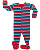 Leveret Footed Red, Navy & Blue Pajama Sleeper 100% Cotton (Size 6M-5T)