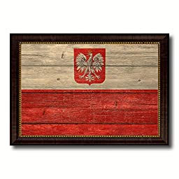 Poland National Textured Flag Art Country Custom Picture Frame office Wall Home Decor Gift Ideas, 15''x21''
