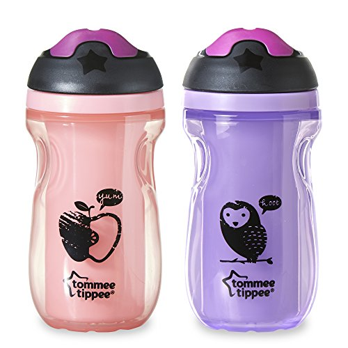 Tommee Tippee Insulated Sipper Tumbler, Pink, 9 Ounce, 2 Count