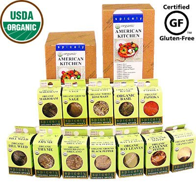 Spicely Organic Spices Gift Set American Kitchen 12-box Sampler ..... Low Rate Shipping