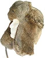 Klondike Sterling Russian Rabbit Fur Trooper Hat Ear Flaps Brown 9H6621 Trapper