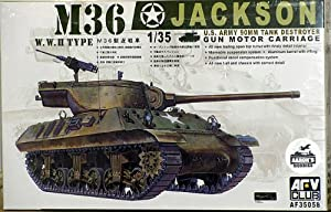 "AFV Club Models 1/35 M36 Jackson"" Tank Destroyer (WW II Type)"""
