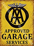 AA Approved Garage Services Breakdown Vintage Workshop Large Metal/Steel Wall Sign