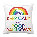 Keep-Calm-And-Poop-Rainbows-Unicorn-Pillow-Square-Throw-Pillow-Cover-Cushion-Case-With-Hidden-Zipper-Closure-Pillowcase-For-Living-Room-Sofa-16-In