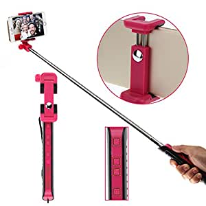wemelody 2015 new extendable zoom selfie stick with rear mirror for women girl cell. Black Bedroom Furniture Sets. Home Design Ideas