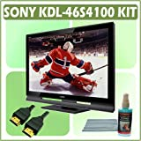 Sony Bravia S-Series KDL-46S4100 46-inch 1080p LCD HDTV + Accessory Bundle w/ 3 Year Extended Warran