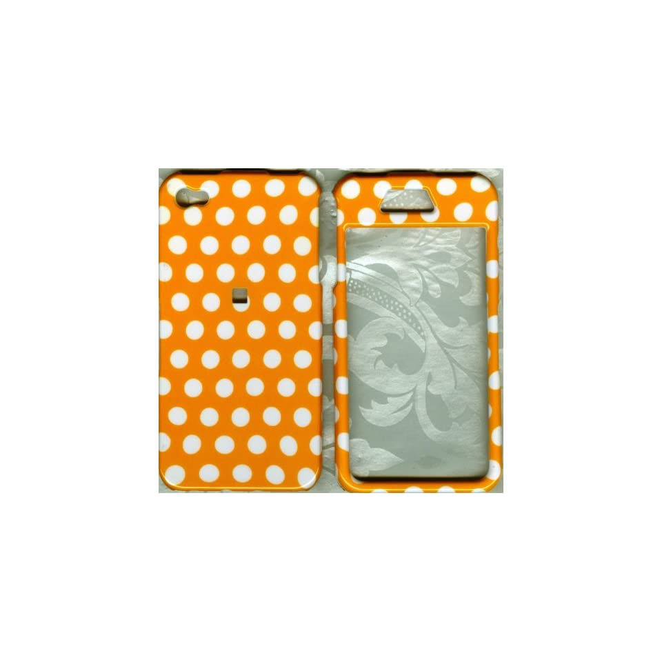 yellow polka dot cute apple iPhone 4 4G faceplate snap hard cover case