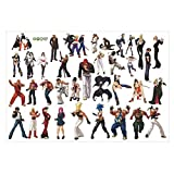 Fangeplus(R DIY Removable King of Fighters Fighting Characters Anime Games Wallpaper Art Mural Vinyl Waterproof Wall Stickers Kids Room Decor Nursery Decal Sticker Wallpaper 23.6''x35.4'' (Color: King of Fighters, Tamaño: 23.6''x35.4'')