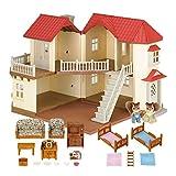 Sylvanian Families - Casa de mu�ecas con 2 caracteres, mobiliario e iluminaci�n (5171)