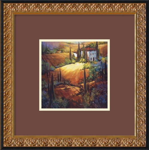 Morning Light Tuscany Framed Art Print by Nancy O''Toole, Image size: 8.12
