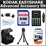 8GB Accessory Kit For Kodak EasyShare Max Z990 Z5010 Z5120 Digital Camera Includes 8GB High Speed SD Memory Card...