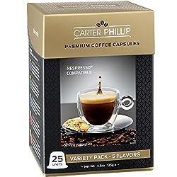 Nespresso Compatible Capsules - Premium Dark Roast Espresso, Lungo and Decaf blends by Carter Phillip Fine Coffee, Now in Nespresso Capsule Format - Delicious Alternative to Nespresso Pods from Carter Phillip Coffee