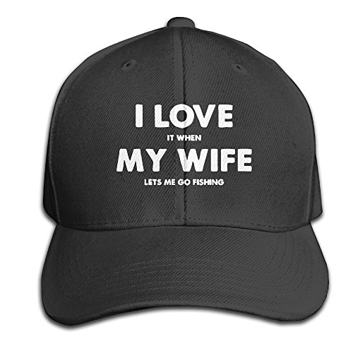 Pattern Printed I Love It When My Wife Lets Me Go Fishing Big Brim Personalized Hats Snapback (Quilt Pattern The Gypsy Wife compare prices)