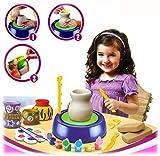 Kleine Töpfereiwerkstatt - Premium Set des kleinen Töpfers (mit Ton, Farben und viel Zubehör)