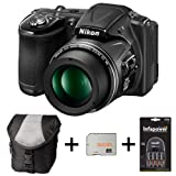 Nikon Coolpix L830 - Black + Case + 32GB Memory Card + 4xAA Battery and Charger (16 MP, 34x Optical Zoom) 3 inch LCD