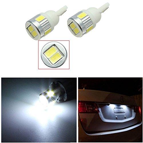 AUDEW-2x-Bianco-3W-T10-W5W-LED-6-5630-SMD-12V-DC-Car-Interior-Treppiede-Fanale-posteriore-Luce-portello-di-automobile
