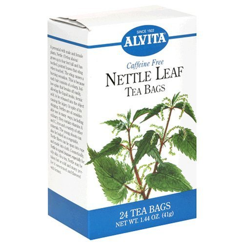 Alvita Tea Bags, Nettle Leaf, Caffeine Free, 24 tea bags [1.44 oz (41 g)] (Pack of 3)