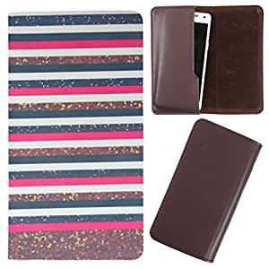 DooDa - For Karbonn Sparkle-V PU Leather Designer Fashionable Fancy Case Cover Pouch With Smooth Inner Velvet