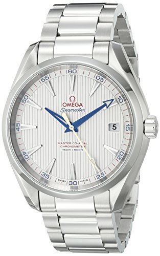 Omega Men's 23110422102004 Seamaster150 Analog Display Swiss Automatic Silver Watch (Omega Seamaster Blue compare prices)