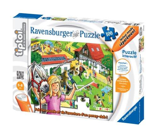 Ravensburger - 00538 - Jeu Éducatif Électronique - Tiptoi - Puzzle - Le Poney-Club