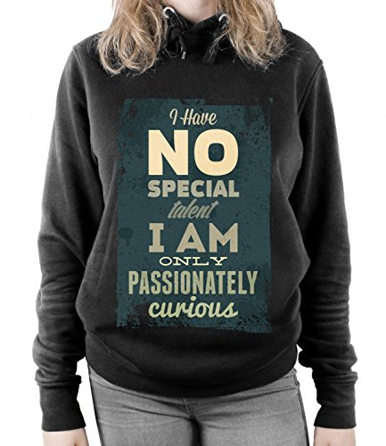 I Have No Special Talent I Am Only Passionately Curious Unisex UNISEX Sweatshirt Nero X-Large