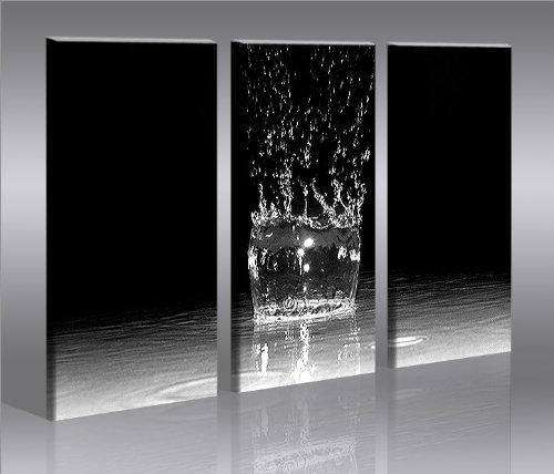 Splash 3 quadri moderni su tela pronti da appendere montata su pannelli in legno - Quadri da appendere in bagno ...