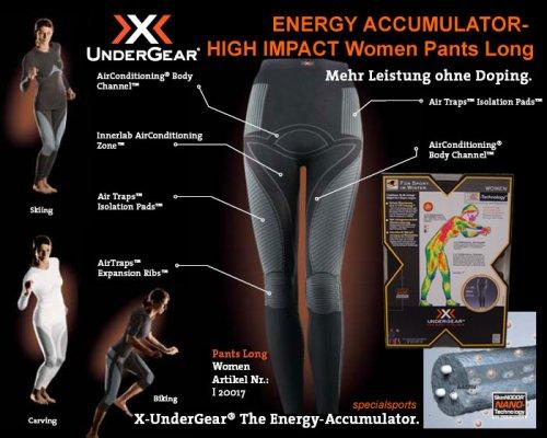X-Bionic Energy Accumulator Women Pants Long High Impact schwarz/anthrazit Gr. L/XL