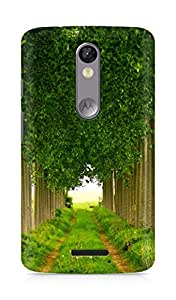 Amez designer printed 3d premium high quality back case cover for Motorola Moto X Force (Green leafage summer)